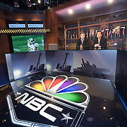 """Newly installed Panasonic 103"""" Plasma Televisions on the set of NBC Sports' """"Football Night in America."""""""