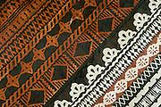 Detail of tapa cloth design; Tongo village, Qamea Island, Fiji.