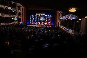 Democratic presidential candidate Hillary Clinton, Martin O'Malley and Bernie Sanders debate at the Gaillard Center, on Sunday, Jan. 17, 2016, in Charleston, S.C. (AP Photo/Stephen B. Morton)