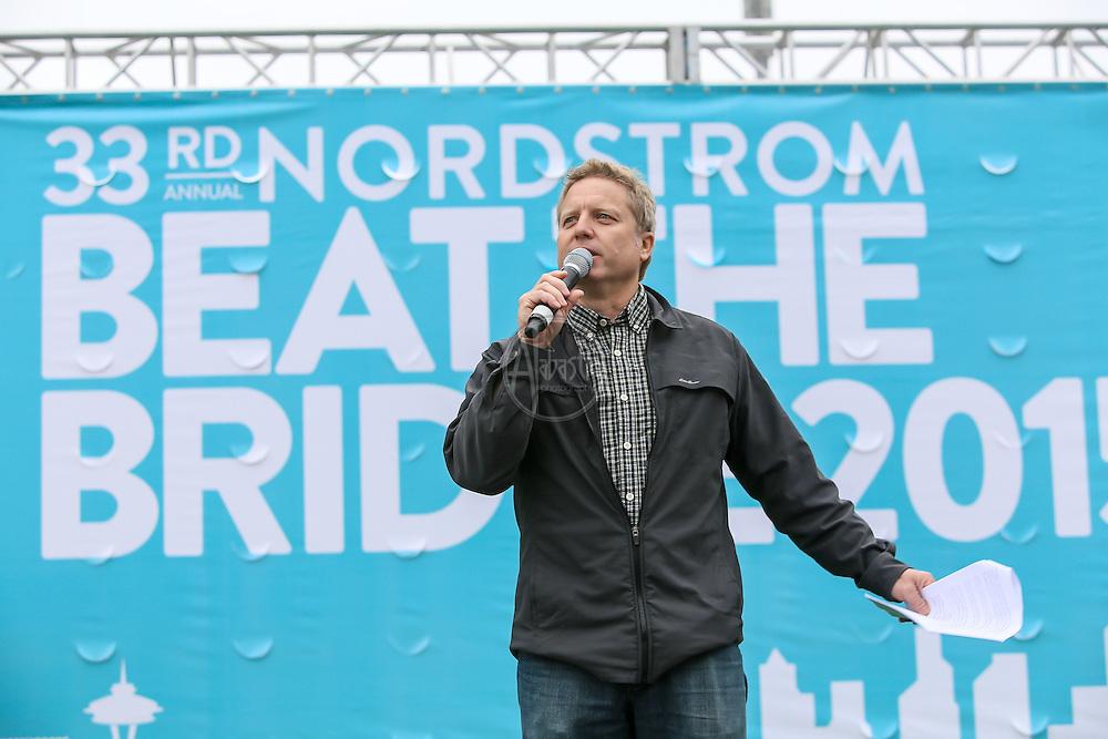 33rd Annual Nordstrom Beat the Bridge Run award winners presented by Jim Dever, King 5.