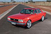 1970 XW Falcon GT Replica - True Blue. 1977 Ford TE Cortina Sedan - PPG mandarin. 1970 XW Fairmont GS - Reef Green Metalic
