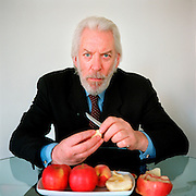 Donald Sutherland,actor. His film career spans nearly 50 years. Some of Sutherland's more notable movie roles have included offbeat soldiers in popular war movies such as The Dirty Dozen and Kelly's Heroes, as well as a diverse range of characters in other noted films such as, Fellini's Casanova, Klute, and Don't Look Now.