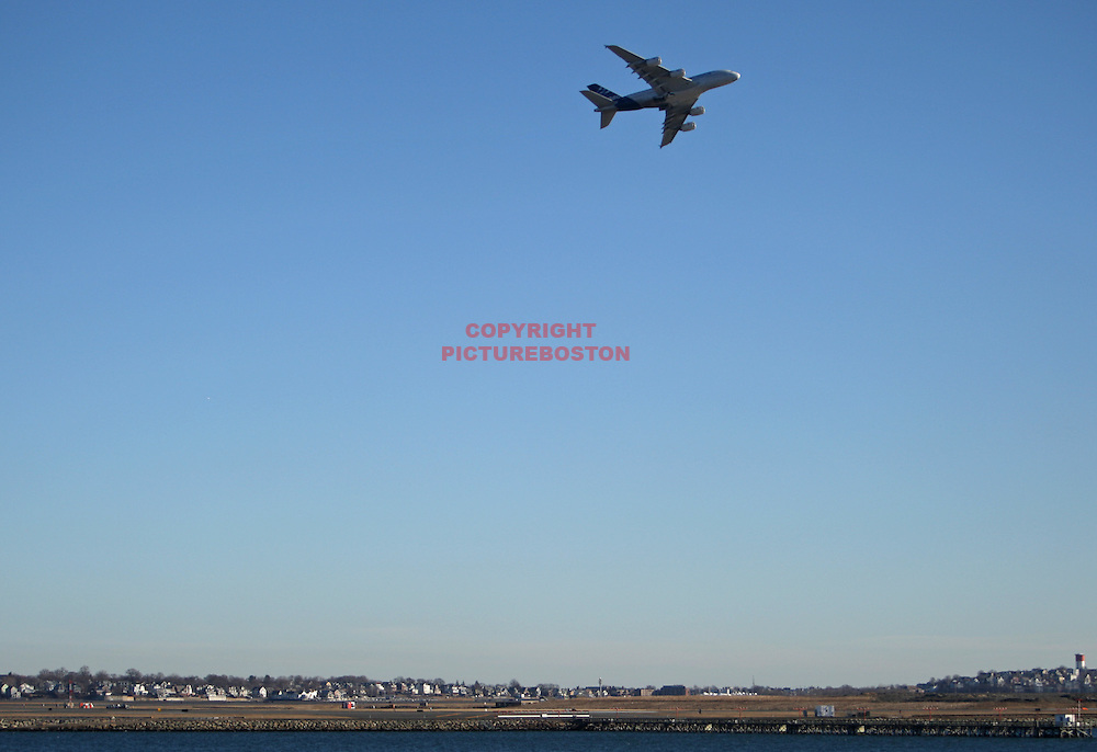 """Various airliners flying in and around Boston's Logan International Airport. Very long lens. NO trickery or photoshop. All photos are """"real time"""" with no trickery or multiple exposure."""