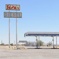 Old Gas Sration near Separ along I 10, New Mexico,USA