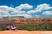 Pink Jeep Tour on Broken Arrow Trail, Coconino National Forest, Sedona, Arizona..#06050306