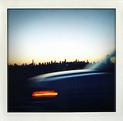 .Skyline seen from BQE in Brooklyn, New York...From the series Fake Polaroids.http://www.stefanfalke.com/.