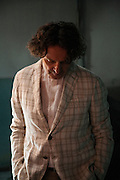 Goran Bregovic at Zepter Studios in New Belgrade, Serbia.<br /> <br /> On set for a Dina Johnsen project, photographed by Matt Lutton.