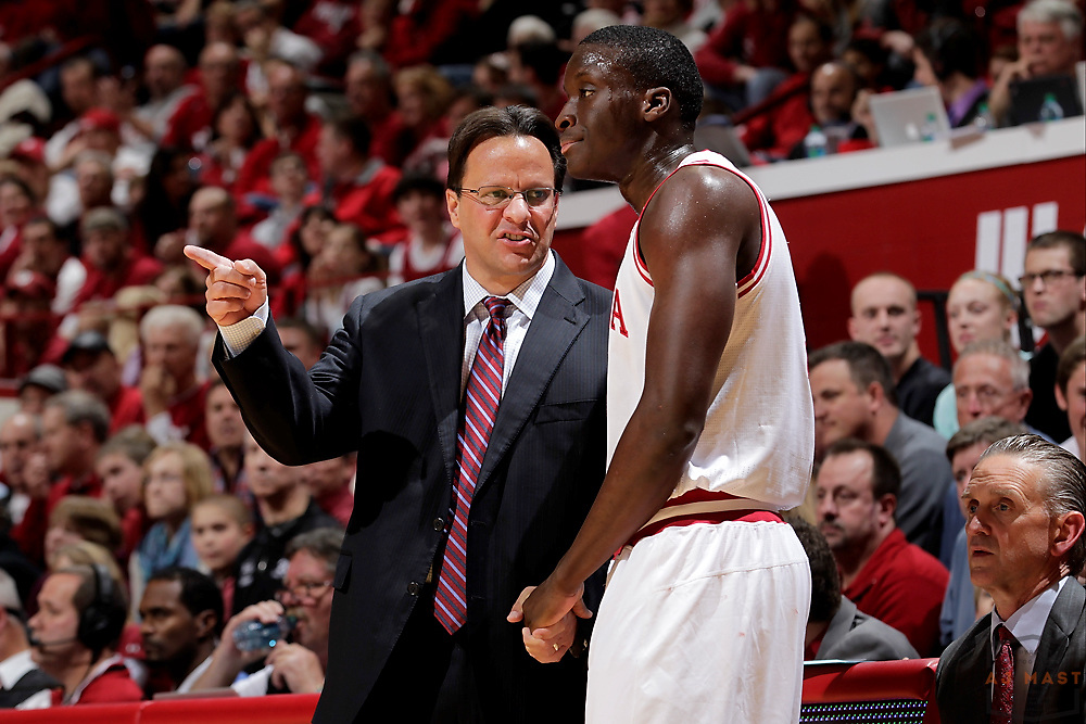 25 November 2012: Indiana head coach Tom Crean as the Indiana Hoosiers played the Ball State Cardinals in Bloomington, Ind..