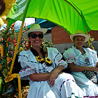 Medellin flower festival, also known as Silleteros Parade.