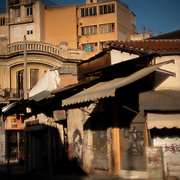 A picture that reminds you of a 'shanty' town, although it is in the centre of Athens. During operating hours this is a bustling flea market specializing in old furniture. Image © Angelos Giotopoulos/Falcon Photo Agency