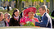 12-4-2016 -MUNCHEN - King Willem-Alexander and Queen Maxima of The Netherlands visits renovated ''Hollander-Saal'' at the Alte Pinakothek museum in Munchen, Germany, 13 April 2016. The King and the Queen visit the state Bavaria in Germany 13 and 14 april. COPYRIGHT ROBIN UTRECHT