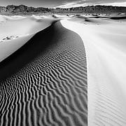 Dune Crest - Mesquite Dunes - Death Valley, CA - Infrared Black & White
