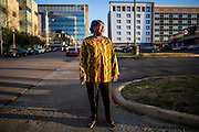 Veronica Roscoe poses for a portrait in front of the Burger King where she is currently employed in Birmingham, Ala.  Roscoe has been working in the fast food industry for decades and currently makes $7.75 an hour.<br /> Joe Buglewicz for The New York Times