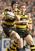Leicester, ENGLAND, Richard Birkett [left] and Eion Reddan, Guinness Premiership Rugby,  Leicester Tigers vs London Wasps © Peter Spurrier/Intersport-images.com.