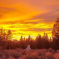 Tipi near Bend, Oregon, USA