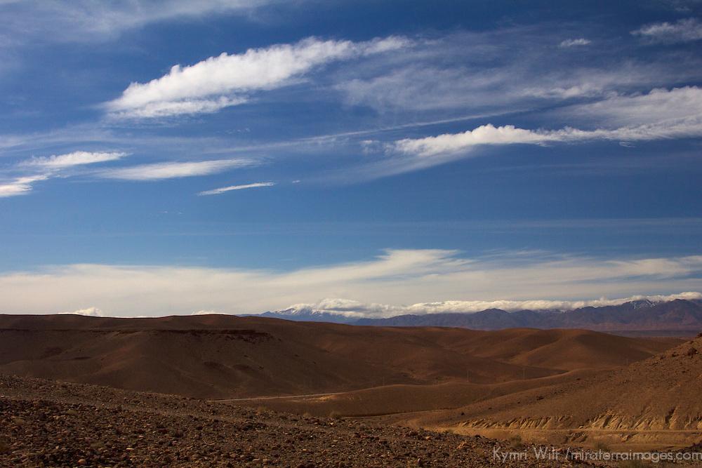 Africa, Morocco, Skoura. Moroccan Desert Landscape.