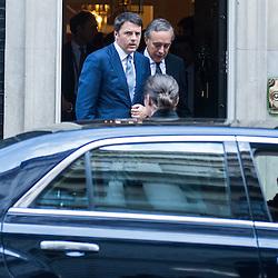 Foto Piero Cruciatti / LaPresse<br /> 02-10-2014 Londra, Gran Bretagna<br /> Politica<br /> Il presidente del Consiglio Matteo Renzi incontra David Cameron a Downing Street<br /> Nella foto: Matteo Renzi<br /> <br /> Photo Piero Cruciatti / LaPresse<br /> 02-10-2014 London, United Kingdom<br /> Politics<br /> Italian PM Matteo Renzi meets British PM David Cameron in Downing Street<br /> In the photo: Matteo Renzi