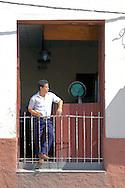 Waiter during Romerias de Mayo, Holguin, Cuba.