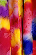 Image of colorful scarves for sale on Tahiti, French Polynesia