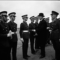 President Eamon De Valera and Irish Cadets leave for President Kennedy's funeral in Washington. .24.11.1963