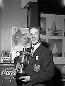 1960 - Coca-Cola Canoe racing trophy presented
