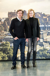 Photocall for Jonathan Teplitzkys film The Railway Man at Creative Scotland, Edinburgh. .Actors Colin Firth and Nicole Kidman..©Michael Schofield..