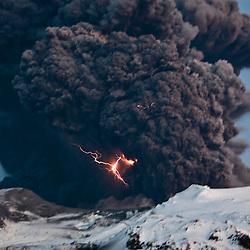 Eyjafjallajoekull volcano in Iceland