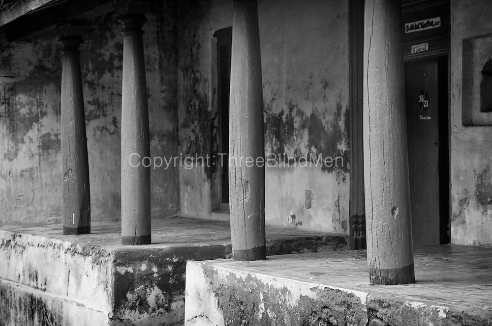 Exterior of a home in Nagapattinam.<br /> Tamil Nadu. South India.