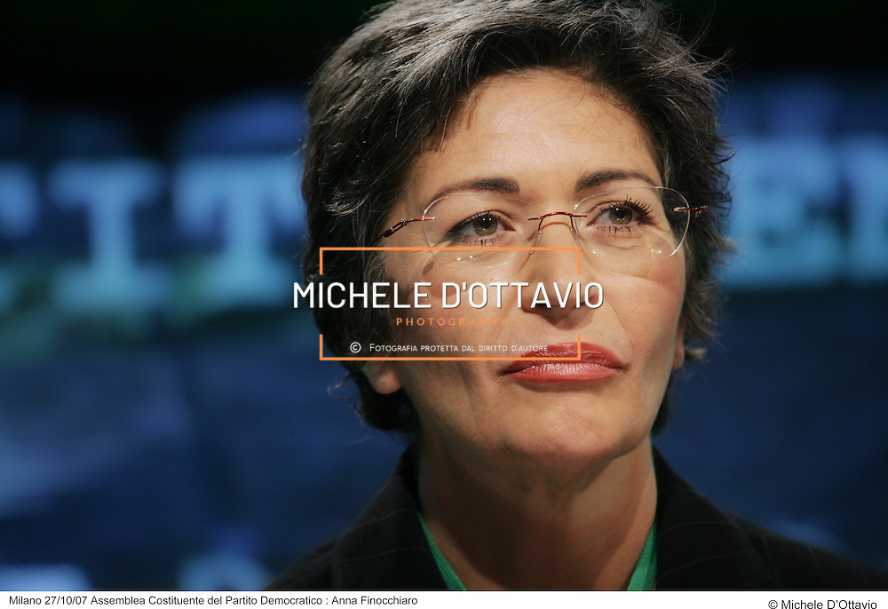 Milano 27/10/07 Assemblea costituente del Partito Democratico.Anna Finocchiaro .fotografia di  Michele D?Ottavio