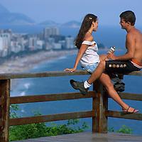 View from Mirante do Leblon to Ipanema.Rio de Janeiro.Brazil.Fully Released