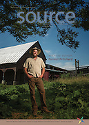 Forrest Pritchard, New York Times Bestselling Author at his Berryville, Va farm for Source Magazine.