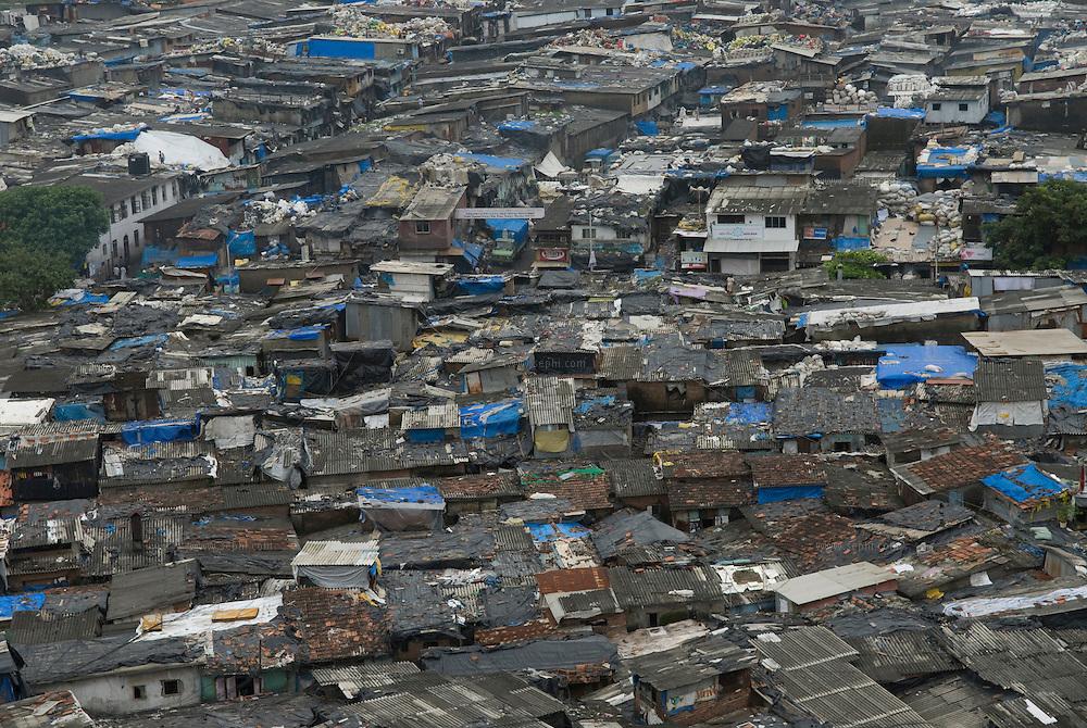 An overview of Dharavi slum. Mumbai, August 2007