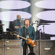 WASHINGTON, D.C. - August 9th, 2016 -  Abe Laboriel Jr. and Sir Paul McCartney perform at the Verizon Center in Washington, D.C. as part of his One on One Tour.  McCartney performed over 30 songs, including songs from The Beatles, The Quarreymen, Wings as well as his solo material.  (Photo by Kyle Gustafson / For The Washington Post)
