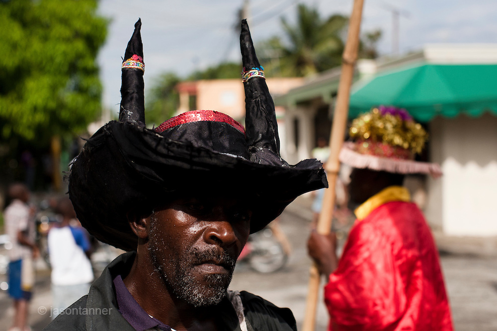 Dominican Republic: Andre, a 48 yearl old Mayi or Magician performs a ritual at a crossroads.