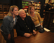 "Author Pat Conroy (center), appearing at Off Square Books to sign and talk about his book ""My Reading Life"", poses for a photo with nancy Bass (left) and Leslie Orrell in Oxford, Miss. on Wednesday, November 3, 2010."