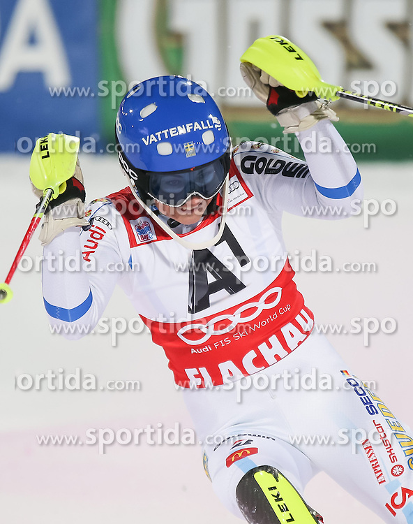 13.01.2015, Hermann Maier Weltcupstrecke, Flachau, AUT, FIS Weltcup Ski Alpin, Flachau, Slalom, Damen, 2. Lauf, im Bild Frida Hansdotter (SWE, 1. Platz) // Winner Frida Hansdotter of Sweden celebrate after her 2nd run of the ladie's Slalom of the FIS Ski Alpine World Cup at the Hermann Maier Weltcupstrecke in Flachau, Austria on 2015/01/13. EXPA Pictures © 2015, PhotoCredit: EXPA/ JOHANN GRODER