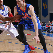 BYU alumni JIMMER FREDETTE (16) drives baseline in the second half of a NBA D-league regular season basketball game between the Delaware 87ers and the Westchester Knicks  Saturday Dec, 26, 2015 at The Bob Carpenter Sports Convocation Center in Newark, DEL