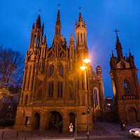 St. Anne's Church and Bernardine Monastery in Uzupis, Vilnius, Lithuania