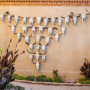 Cow skull art at the Gage Hotel, in Marathon, Texas. west Texas.