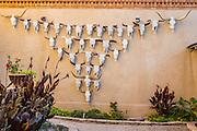 Cow skull art at the Gage Hotel, in Marathon, Texas. west Texas.
