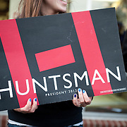 Jan. 9th, 2012. Nashua, NH - John Huntsman supporters.