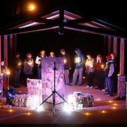 Friends of Jennette Sims Brannon, who was found dead in Coaling, the victim of an apparent murder, held a vigil for her in Hurricane Creek Park Friday night December 30, 2016. Staff Photo/Gary Cosby Jr.