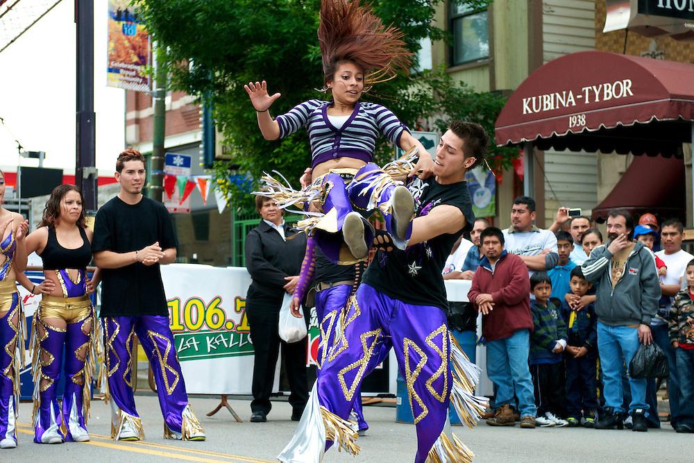 Quebradita dancers at Fiesta Back of the Yards