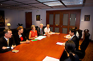 1-7- 2015 MANILLA - Meeting with Amando M. Tetangco jr., Gouverneur van de Centrale Bank over de Nationale Strategie<br /> voor Inclusieve Financiering . Queen Maxima during a three-day visit to the Philippines, as a special advocate of the Secretary-General of the United Nations. Queen M&aacute;xima visits in her capacity as special advocate of the Secretary-General of the United Nations for inclusive finance for development (inclusive finance for development). manila COPYRIGHT ROBIN UTRECHT