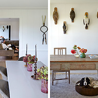 Diningroon, Living Room and Home Office of Rhode Island Coastal Home