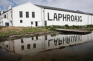 Laphroaig malt whisky distillery, Islay, Scotland.