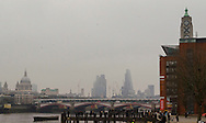 The City of London Skyline during today's Eclipse Approx 09.32), London, Britain - 20-Mar 2015.
