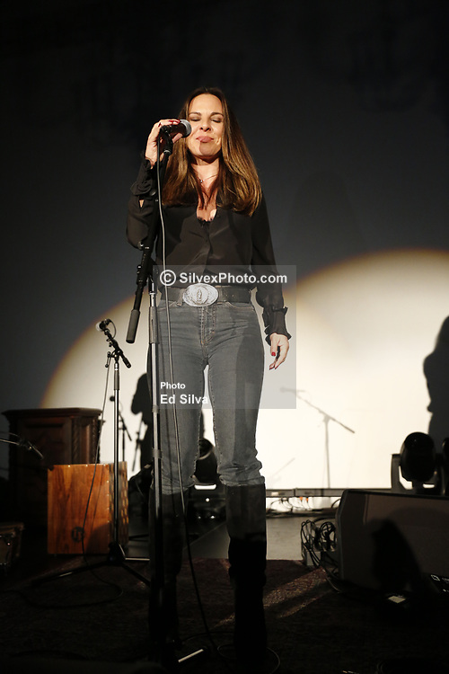 """LOS ANGELES, CA - MAY 8: Actress Kate Del Castillo attends La Santa Cecilia performance on stage at The Masonic Lodge at Hollywood Forever to debut their new album """"Amar y Vivir"""" recorded live in Mexico City on Monday  May 8, 2017, in Los Angeles. Byline, credit, TV usage, web usage or linkback must read SILVEXPHOTO.COM. Failure to byline correctly will incur double the agreed fee. Tel: +1 714 504 6870."""