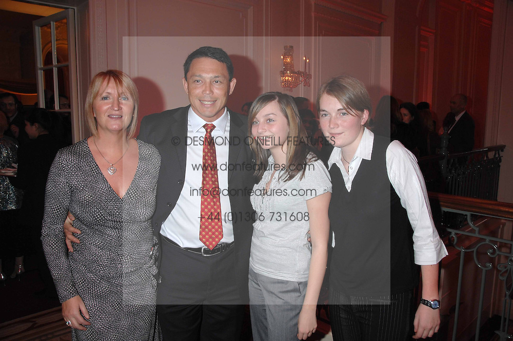 Left to right, former England rugby international player RORY UNDERWOOD and MRS UNDERWOOD awith their daughters ALIX and REBECCA at a party hosted by the Mandarin oriental Hyde park Hotel to celebrate the Chinese new year on 19th February 2007.<br />