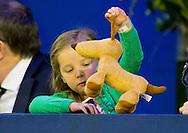 AMSTERDAM - Prinses Margarita en haar man Tjalling ten Cate met dochter Paola  tijdens de jumping amsterdam COPYRIGHT ROBIN UTRECHT